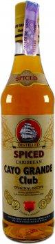 Алкогольний напій на основі рому Cayo Grande Club Spiced 0.7 л 35% (8414771865041)