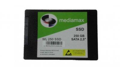 Накопичувач SSD 250GB Mediamax SATAIII 2.5 TLC (WL 250 SSD) - Refubrished