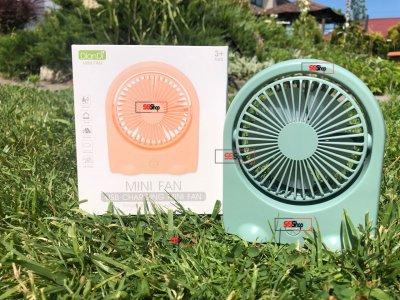 Портативний USB акумуляторний міні вентилятор з поворотним механізмом Mini Fan (DD-5576) Зелений