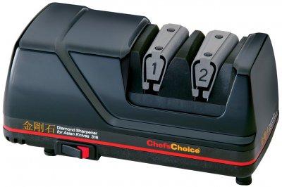 Точилка для ножей азиатского типа Chef's Choice электрическая двухуровневая Черная (CH/316)