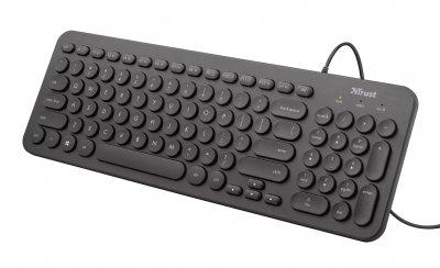 Клавіатура Trust Trust Muto Silent USB Black (23408)
