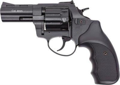 "Револьвер під патрон Флобера 4 мм Stalker S 3"" Black (силуміновий барабан)"