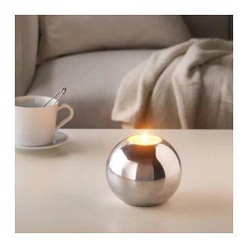 Набор ароматических свечей IKEA SINNLIG ваниль 12 шт Бежевый (103.373.13)