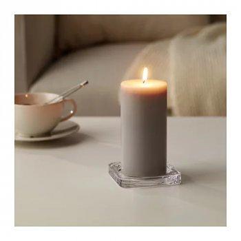 Ароматическая формовая свеча IKEA SINNLIG 14 см мускатный орех и ваниль Серый (403.373.59)