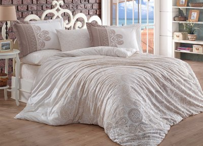 Комплект постельного белья Hobby Flannel Irene 200х220 Серый (8698499140172)