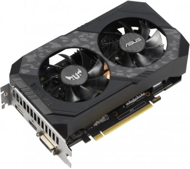 Asus PCI-Ex GeForce GTX 1660 TUF Gaming OC 6GB GDDR5 (192bit) (1530/8002) (DVI, HDMI, DisplayPort) (TUF-GTX1660-O6G-GAMING)