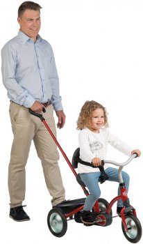 Велосипед детский Smoby Toys Зуки металлический с багажником красный (740800) (3032167408006)