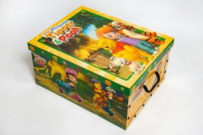 Коробка картонная с пластиковыми ручками Evoluzione 40 х 50 х 25 см Винни и Робин (18)