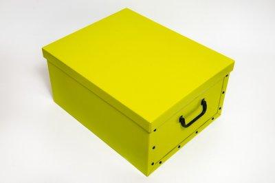 Коробка картонная с пластиковыми ручками Evoluzione 40 х 50 х 25 см Желтая (15)