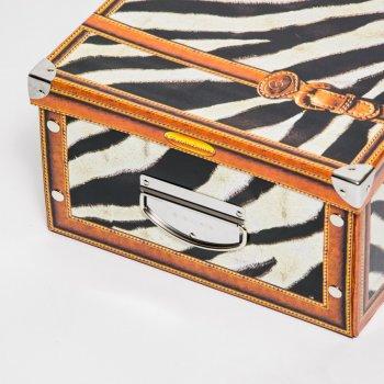 Коробка картонная с металлическими ручками Evoluzione 31 х 42 х 17 см Зебра (16)