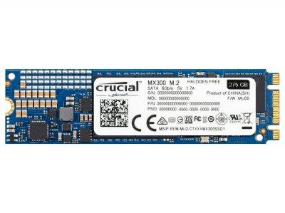 Твердотельный накопитель M.2 275Gb Crucial MX300 SATA3 2.5' TLC 3D VNAND 530/500 MB/s CT275MX300SSD4