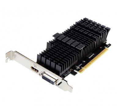 Видеокарта GeForce GT710 Gigabyte 2Gb DDR5 64bit DVI/HDMI 954/5010MHz Silent Low Profile GVN710D5SL2GL