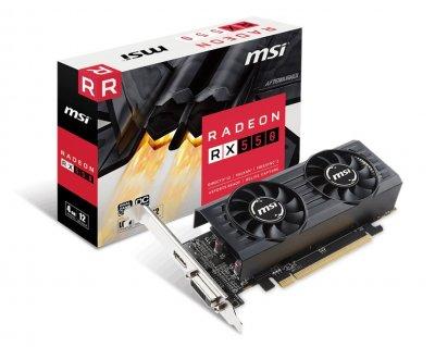 Відеокарта Radeon RX 550 MSI OC 4Gb DDR5 128bit DVI/HDMI 1203/6000MHz Low Profile RX 550 4GT LP OC