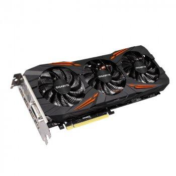 Відеокарта GeForce GTX1070 OC Gigabyte GAMING 8Gb DDR5 256bit DVI/HDMI/3xDP 1822/8008 MHz GVN1070G1 GAMING8GD