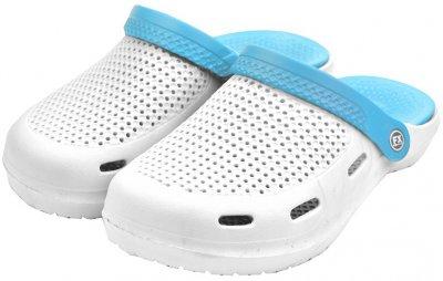 Сабо FX shoes 14023 Бело-голубые