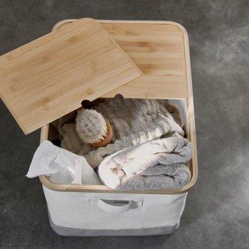 Коробка IKEA RABBLA 35x50x30 см коричнева бежева 403.481.26