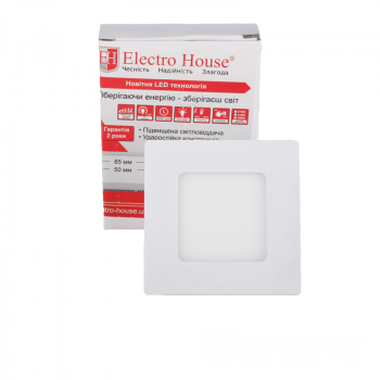 Світильник стельовий Electro House EH-LMP-3400 LED панель квадратна 3вт 4100К 85х85мм
