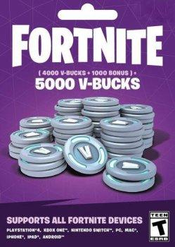 Fortnite 5000 В-баксов 4000 + 1000 V-BUCKS Всі платформи
