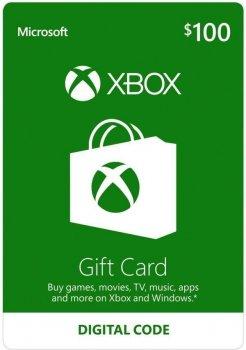 Подарочная карта Xbox Live / Gift Card пополнение бумажника счета своего аккаунта на сумму 100 usd US-регион