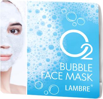 Маска Lambre Bubble face mask O2 Пузырьковая с сильным кислородным действием 2х8 мл (3760183769503)