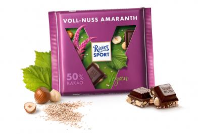 Шоколад Ritter Sport Vegan фундук і амарант 100 г * 5 шт