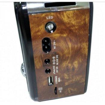 Портативное аккустическое радио в классическом стиле RX-436 Brown