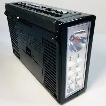 Радиоприёмник портативный со встроенным LED фонариком 18,5см Golon RX-177 Black