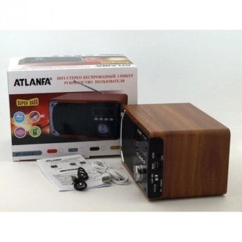 Колонка акустична система радіоприймач ATLANFA AT-1822BT