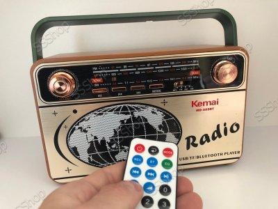 Акумуляторний аудіосистема радіоприймач з пультом управління і Bluetooth радіо Kemai Retro (MD-503BT)