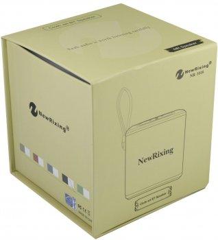 Бездротова акумуляторна Bluetooth колонка акустика New Rixing NR-1016 Original Black
