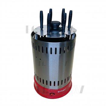Электрошашлычница для будинку вертикальна 1000Вт Livstar BBQ (LSU-1320) Червона