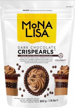 Декор Callebaut Crispearls Dark з чорного бельгійського шоколаду у формі шоколадних перлин з печивом усередині 800 г (5410522481587)
