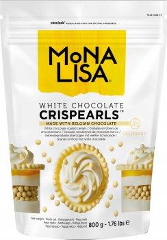 Декор Callebaut Crispearls White из белого бельгийского шоколада в виде шоколадных жемчужин с печеньем внутри 800 г (5410522545661)
