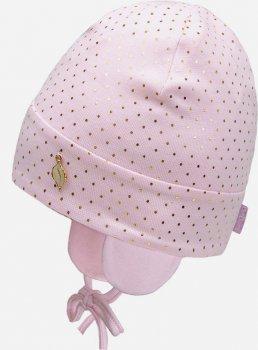 Демисезонная шапка с завязками David's Star 21347-1 44 см Розовая (ROZ6400049584)