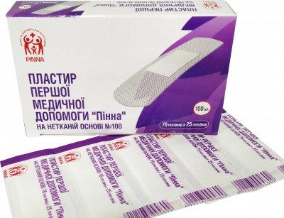 Пластырь первой медицинской помощи Pinna на нетканой основе 76 мм х 25 мм 100 шт (6922163094426)