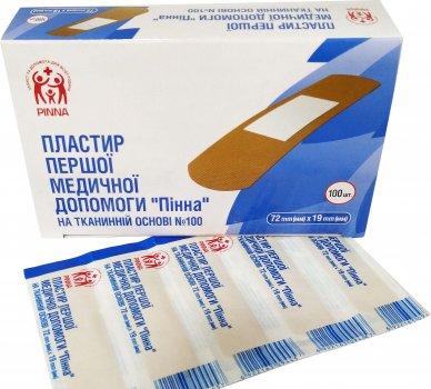 Пластырь первой медицинской помощи Pinna на тканевой основе 72 мм х 19 мм 100 шт (6922163094396)