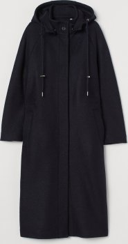 Пальто H&M 0839996-1 Темно-синее
