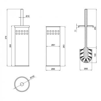Йоршик для унітазу Lidz (CRM)-121.05.09