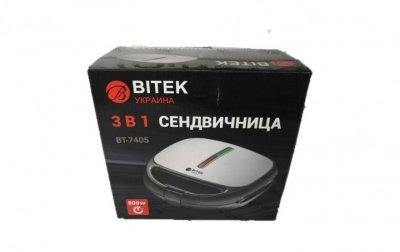 Бутербродниця 3 в 1 Bitek BT-7405 + Вафельниця і гриль