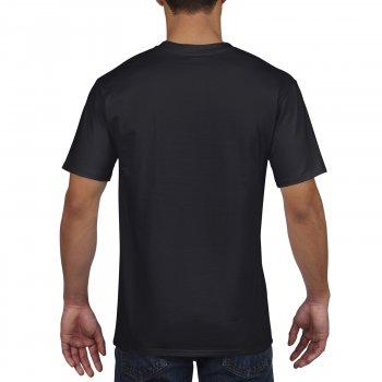 Футболка Premium Cotton чорна 100% бавовна ТМ Gildan
