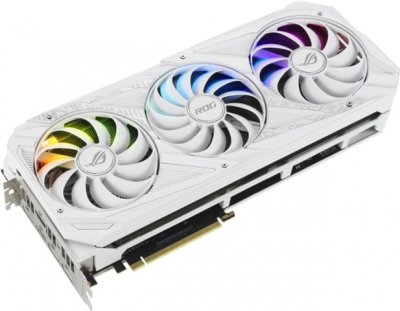 Asus PCI-Ex GeForce RTX 3070 ROG Strix Gaming OC White Edition 8GB GDDR6 (256bit) (1935/14000) (2 x HDMI, 3 x DisplayPort) (ROG-STRIX-RTX3070-O8G-WHITE)
