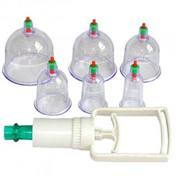 Массажные антицеллюлитные вакуумные банки 6 шт YS с насосом вакууматором (as-10238)