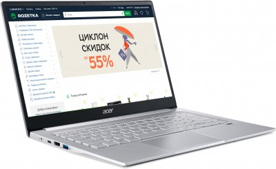 Ноутбук Acer Swift 3 SF314-59-55QA (NX.A0MEU.00R) Pure Silver