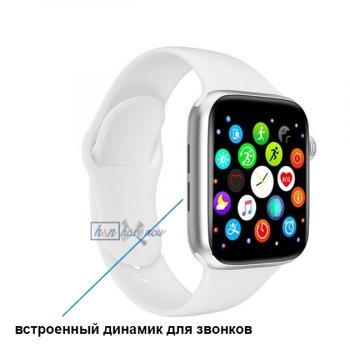 Розумні Фітнес-годинник Smart Watch T 800, Голосовий виклик, Температура тіла, Тонометр, Пульсометр, Шагометр, Оксиметром, білий (SW-438659)