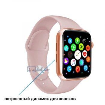 Розумні Фітнес-годинник Smart Watch T 800, Голосовий виклик, Температура тіла, Тонометр, Пульсометр, Шагометр, Оксиметром,рожевий (SW-438658)