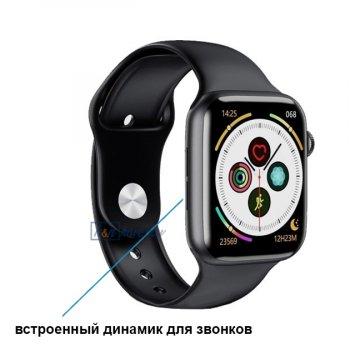 Розумні Фітнес-годинник Smart Watch T 800, Голосовий виклик, Температура тіла, Тонометр, Пульсометр, Шагометр, Оксиметром, чорний(SW-438660)