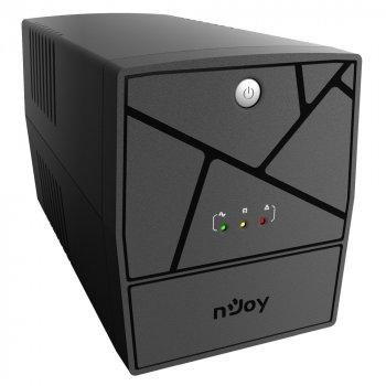 ИБП NJOY Keen 1000 (UPLI-LI100KE-CG01B) Lin.int., AVR, 4 x евро, пластик
