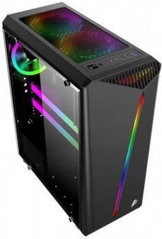 Корпус 1stPlayer R3-3R1 Color LED Black без БП