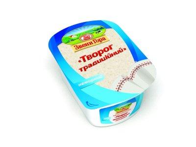 Сир кисломолочний Звени Гора традиційний Сир нежирний 400г