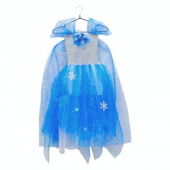 Платье Фроузен детское со шлейфом и брошью SETA Decor 16-893BL